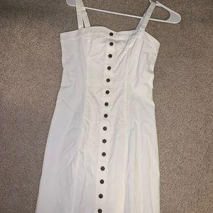 New comfy White dress with buttons